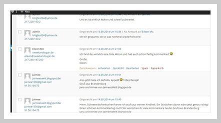 Wichtig für jeden Blog sind Kommentare