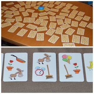 7 Karten in einer Reihe