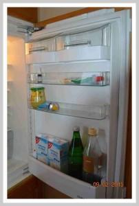 Auch die Kühlschranktür kann gut genutzt werden.