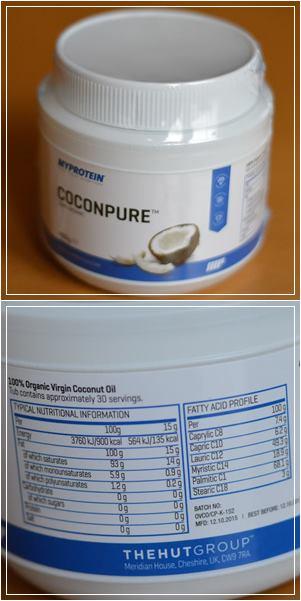 Myprotein liefert auch Kokosfett