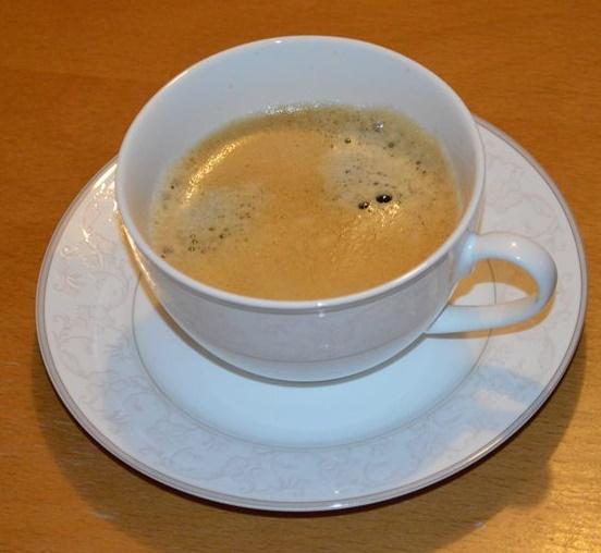 Der Morgen beginnt mit einer Tasse Kaffee