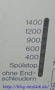 Die Schleuderzahl lässt sich bei den meisten Waschmaschinen einstellen.