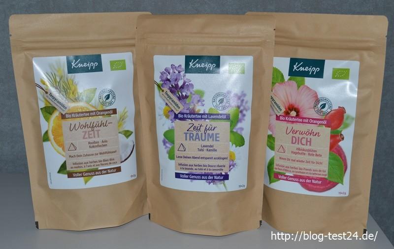 Mein Tee Testpaket der Firma Kneipp